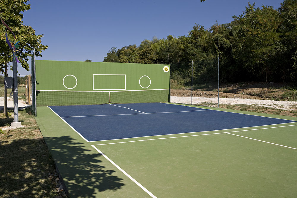 training area tennis